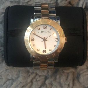 Marc jacobs rose gold and silver watch